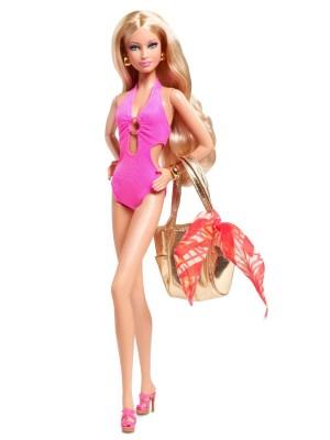 Barbie Basics Model #04-003 Barbie Collector Black Label - W3328 Pink Swimsuit