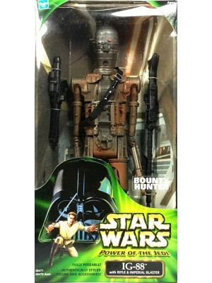 Star Wars Power of the Jedi Action Collection BOUNTY HUNTER IG-88 12in Action Figure 076930264713