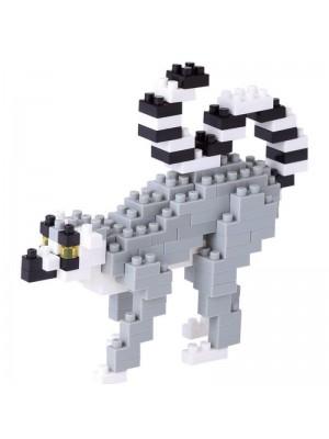 Nanoblock NBC_166 動物系列 環尾狐猴 4972825201626