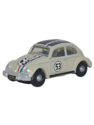 OXFORD DIECAST #NVWB001 - VW Beetle (Pearl White Edition)