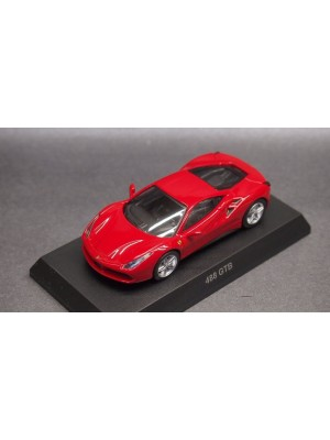 Kyosho 1:64 SCALE MINICAR COLLECTION FERRARI 11 488 GTB (Red) 4548565285440