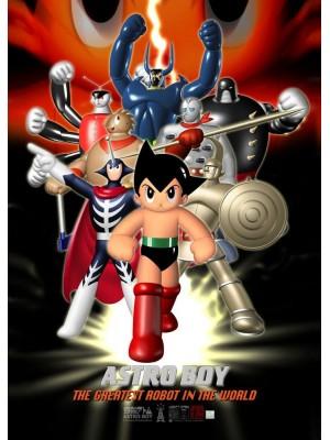 香港動漫電玩節 2016 TZKAP-003 美術印刷 Tezuka Astro Boy 小飛俠「鉄腕アトム」- 《地上最強》 海報 4897077245948