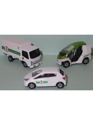 日本 7-11 限定 TOMICA車 (Set of 3)
