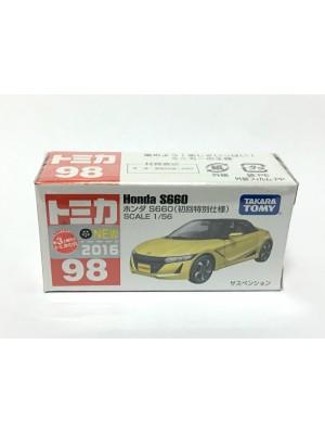 TOMICA NO.098 HONDA S660 (初回) 4904810824985