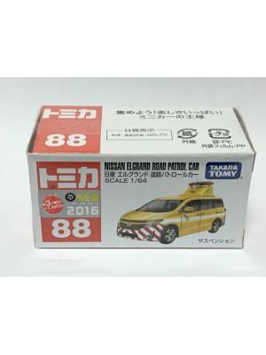 TOMICA NO.088 NISSAN ELGRAND ROAD PATROL CAR 4904810843290