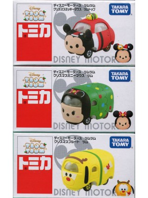 Tomica Disney Motors TSUM TSUM Christmas Xmas Mickey Minnie Pluto( set of 3)