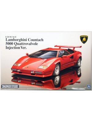 Aoshima 1/24 Lamborghini Countach 5000 Quattrovalvole Injection Ver. 4905083011546