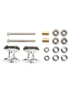 Tamiya 15418 Double Aluminum Rollers w/Rubber Rings (13-12mm) 4950344154180