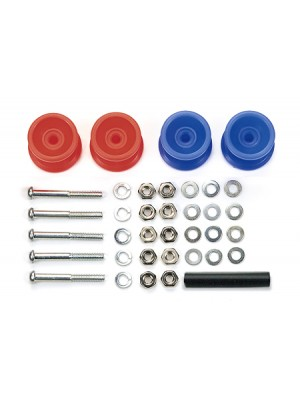 Tamiya 15457 two-stage low-friction plastic roller set (red / blue 13-12 mm) 4950344154579