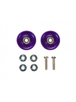 Tamiya 95049 JR 13mm Aluminum Ball-Race Rollers (Ringless/Violet) 4950344950492