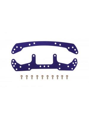 Tamiya 95051 JR Duralumin Wide F/R Plate (Violet) 4950344950515
