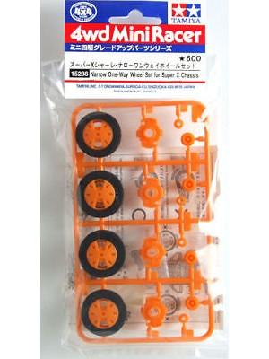 Tamiya 15238 Narrow One-Way Wheel Set for Super X Chassis 4950344998623