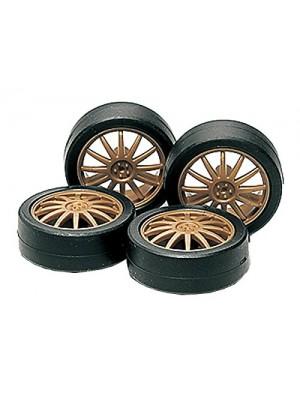 Tamiya 15358 Low-Hight Tire & Wheel Set (Fin)  4950344998890