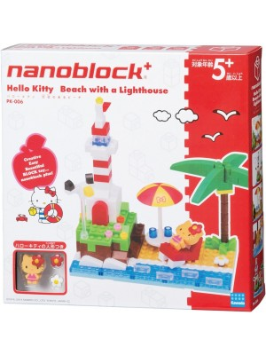 Nanoblock  PK-006 Hello Kitty  沙灘與燈塔