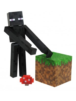 Minecraft Overworld Enderman Action Figure Set