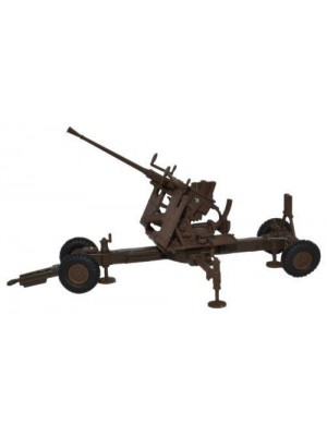 76BF001 Brown 40MM Bofors Gun - 1:76 Scale