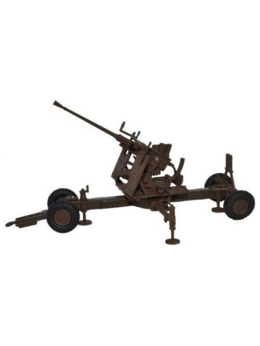 76BF001 Brown 40MM Bofors Gun - 1:76 Scale