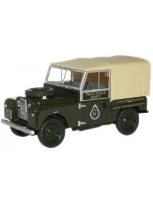 """76LAN188008 Civil Defence Corps Land Rover 88"""" Canvas"""