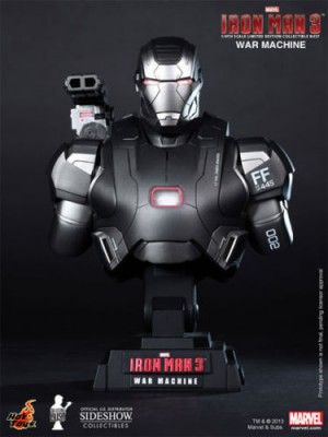 HTB10 1/4 SCALE IRON MAN 3 WAR MACHINE BUST 4897011174983